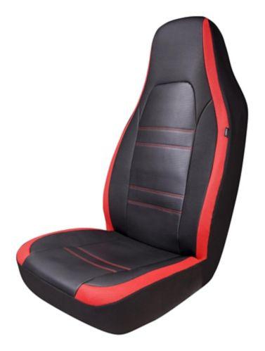 Housse de siège baquet dossier haut AutoTrends Sport, rouge et noir