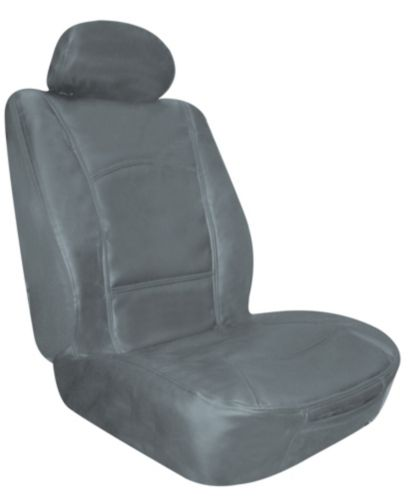Leather Low Back Grey Seat Cover
