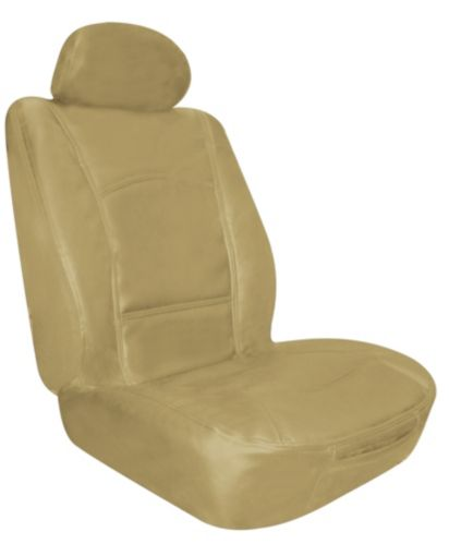 Leather Low Back Tan Seat Cover