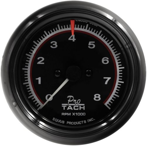 EQUUS 3-3/8-in. Black Tachometer