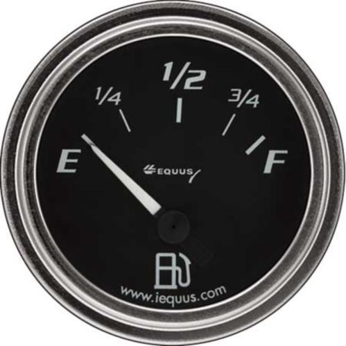 EQUUS 2-in. Fuel Level Gauge for Ford & Chrysler, Chrome