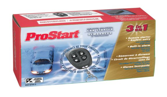 Canadian Tire Prostart Prostart 4button Remote Starter With Keyless