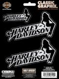 Classic Graphix Harley Davidson Sitting Lady Decal Pack