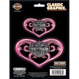 Harley Davison Pink Heart Classic Emblem Car Decal | Harley-Davidson | Canadian Tire