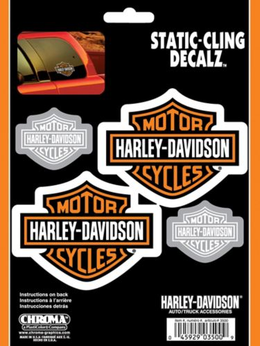 Harley Davidson Cling Decal, 6 x 8-in