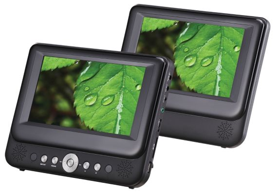 Sylvania Dual Screen Portable DVD Player Product image
