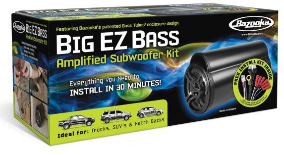 Bazooka Big EZ Bass 50W 8-in Amplified Subwoofer Kit