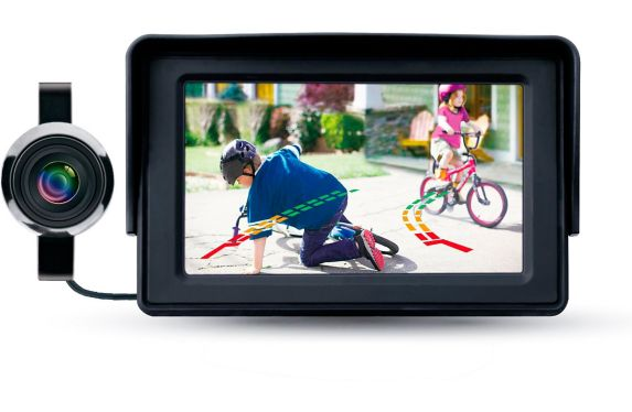 Reload Wired Backup Camera with Parking Assist System (PAS), 4.3-in