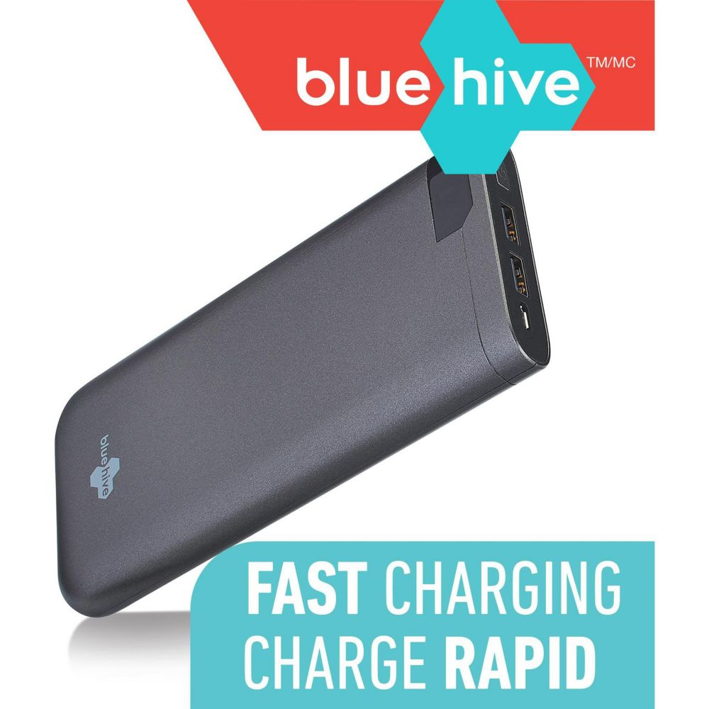 Bluehive 2-Port Power Bank, 16,000 mAh