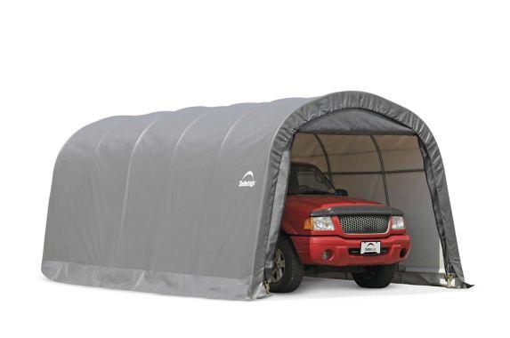 ShelterLogic Garage-in-a-Box® Round Shelter, Grey, 12-ft x ...