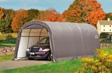 ShelterLogic Garage-in-a-Box® Round Shelter, Grey, 12-ft x 20-ft x 8-ft | Shelter Logic | Canadian Tire