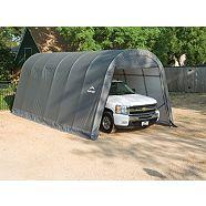 ShelterLogic Round Car Shelter, Grey, 10-ft x 20-ft ...