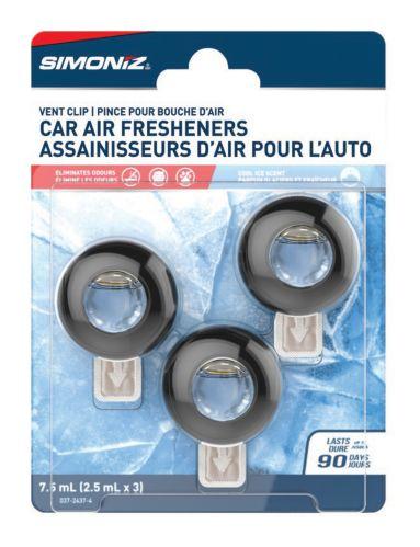 Simoniz Vent Clip Car Air Freshener, Cool Ice, 3-pk Product image