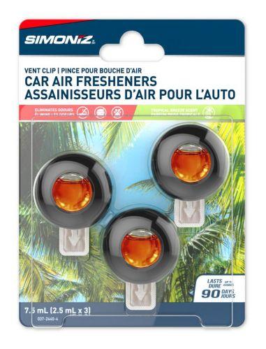 Simoniz Vent Clip Car Air Freshener, Hawaii Aloha, 3-pk Product image