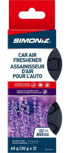 Simoniz Fibre Can Car Air Freshener, Moonlight Lavender, 2-pk Product image