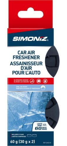 Simoniz Fibre Can Car Air Freshener, Cool Ice, 2-pk Product image
