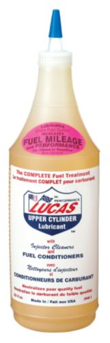 Lucas Fuel Treatment with Upper Cylinder Lubricant & Injector Cleaner, 946-mL