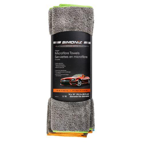 SIMONIZ Platinum Plush Microfibre Towels, 10-pk