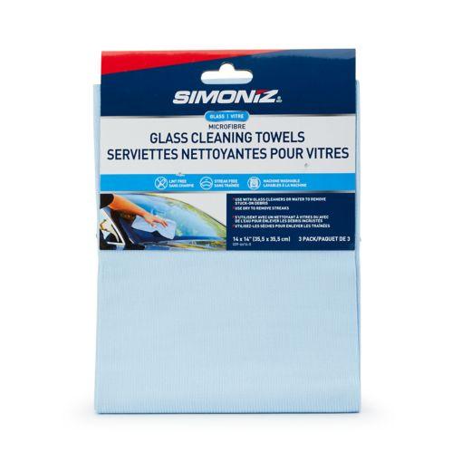 SIMONIZ Microfibre Glass Cleaning Cloths, 3-pk Product image