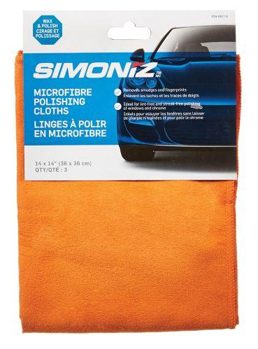 Simoniz Microfibre Polishing Towels, 3-pk Product image