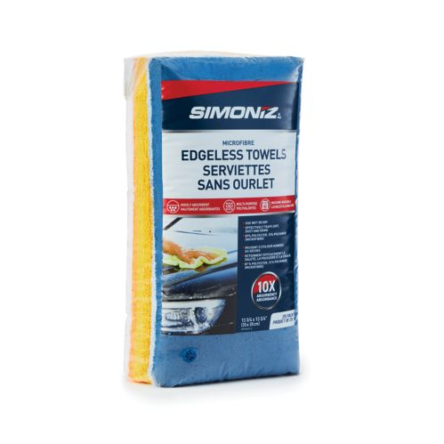 SIMONIZ Microfibre Edgeless Towels, 25-pk