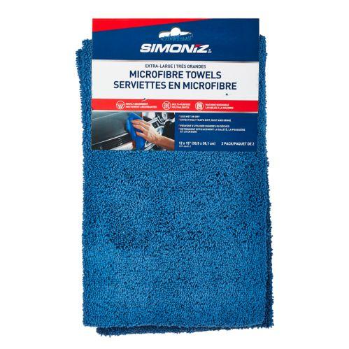 SIMONIZ Microfibre Towels, 12-in x 15-in, 2-pk Product image