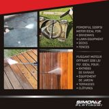 Nettoyeur haute pression à essence Simoniz Platinum, service intensif, 3200lb/po2   Simoniznull