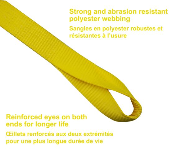 17,000-lb Tow Strap, 2-in x 20-ft