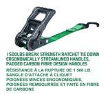 Sangles à cliquet Carbon, résistance à la rupture de 1 500 lb, 1 po x 14 pi, paq. 4 | MotoMasternull