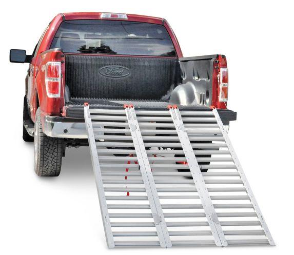 76 In Extra Wide Multi Purpose Aluminum Loading Ramps Trio Canadian Tire