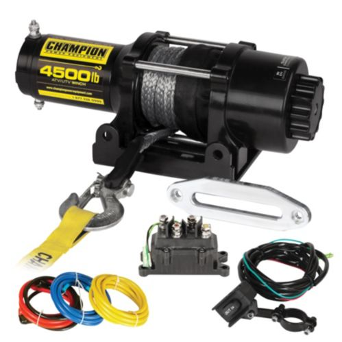 Champion Synthetic Rope Winch Kit,  4,500-lb Product image