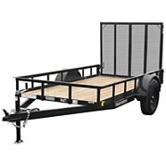 True North Landscape Utility Trailer with Ramp Gate, 5 x 10-ft