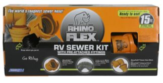 RHINOFLEX SEWER HOSE KIT 15 FT SUITABLE FOR AMERICAN RV.