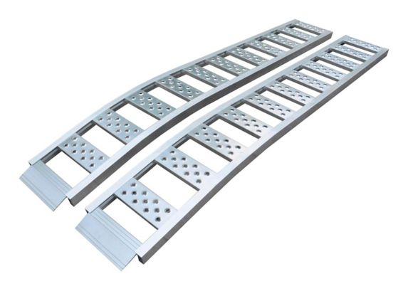 Arched Aluminum Ramp, Pair, 90-in x 12-in