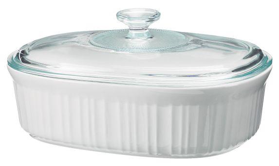 Plat Corning French White, 2 1/2 pintes
