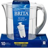 Brita Grand Water Filter Pitcher with Replacement Filter, White, 10-Cup | Britanull