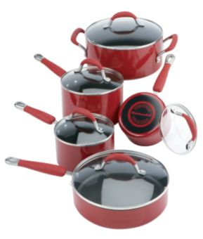 KitchenAid Cookware Set, Red, 10-pc