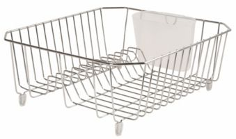 Dish Rack.For Living Dish Drainer Small Chrome