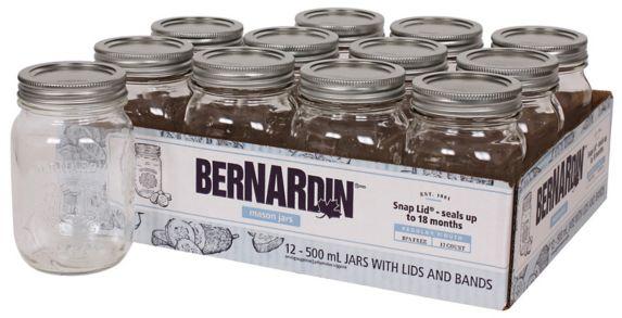Bernardin Regular Mason Jars, 500-mL,12-pk Product image