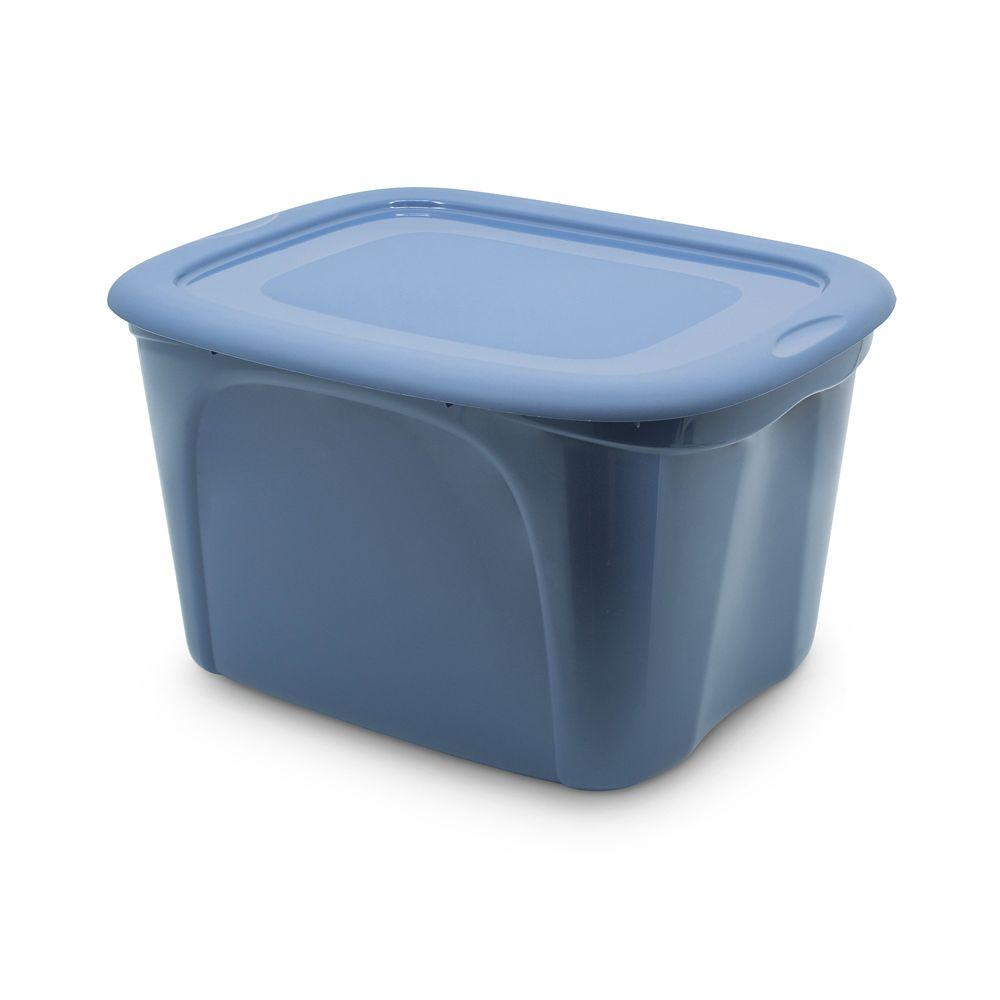 type A Nesting Storage Tote, Blue, 63-L