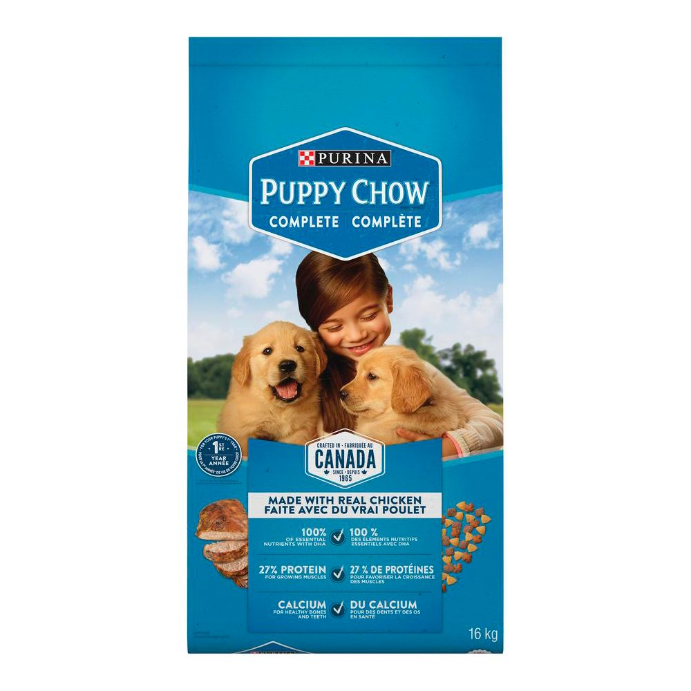 Purina Puppy Chow Puppy Food for All Puppies, 16-kg