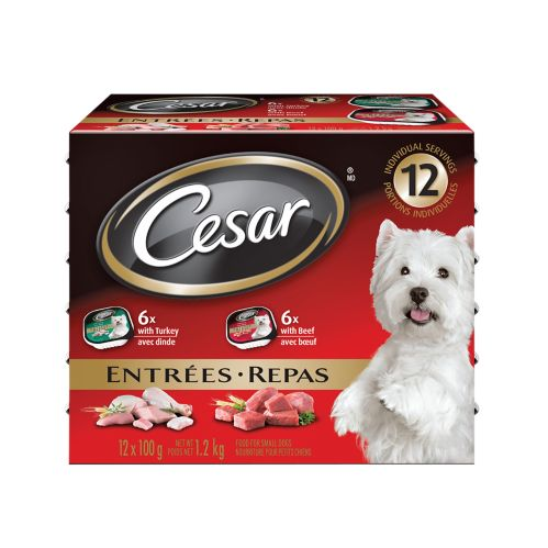 Cesar Small Dog Food 12 pack, Beef