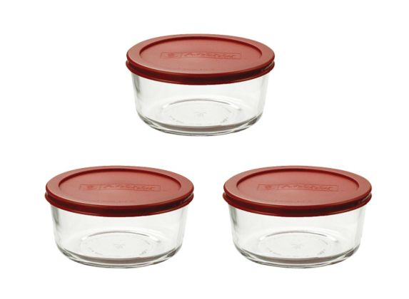 Anchor Hocking 4 Cup Glass Storage Container Set, 6-pc Product image