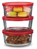 Anchor Hocking 4 Cup Glass Storage Container Set, 6-pc   Anchor Hockingnull