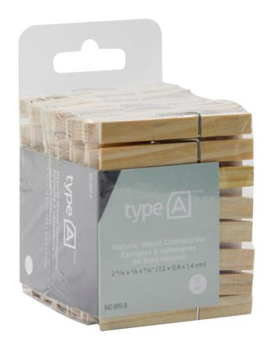 type A Natural Wood Clothespins, 48-pk Product image