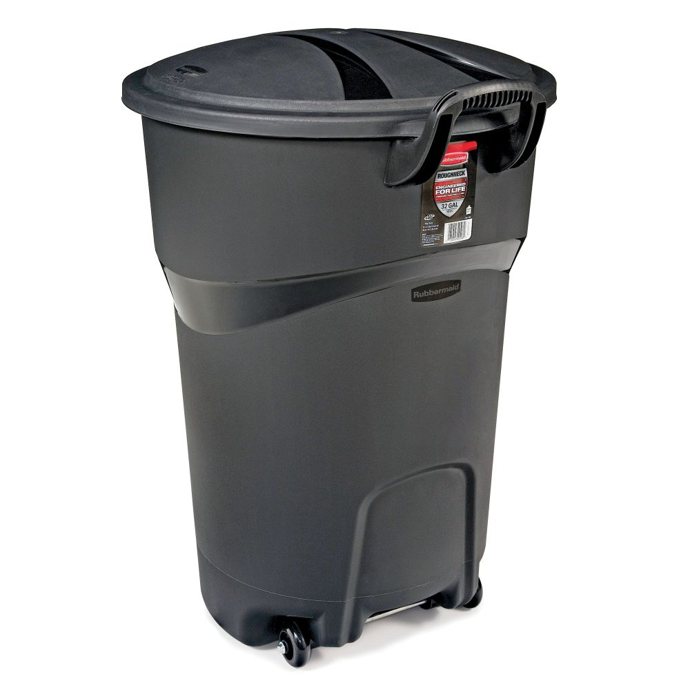 Rubbermaid Wheeled Garbage Can, 121-L