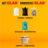 Glad 100% Compostable Bags - Tall 49 Litres - Lemon scent, 10 Compost Bags   GLADnull