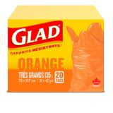Glad Orange Garbage Bags - Extra Large 135 Litres - 20 Trash Bags | GLADnull