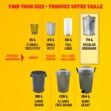 Glad Black Garbage Bags - Regular 74 Litres - 40 Trash Bags | GLADnull