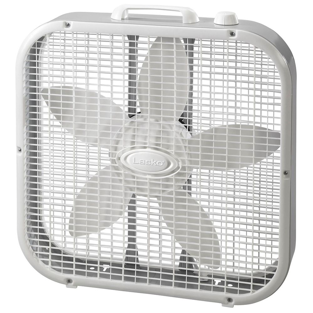Lasko Steel Box Fan, 20-in